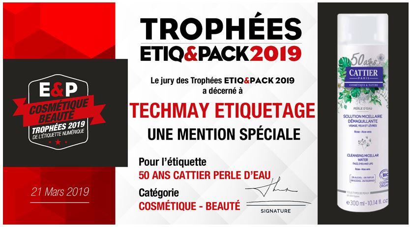 Trophée Etiq&Pack 2019 - TECHMAY LOGETIQ
