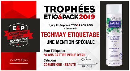 Trophée Etiq&Pack 2019 - TECHMAY ETIQUETAGE