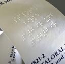Étiquette Braille