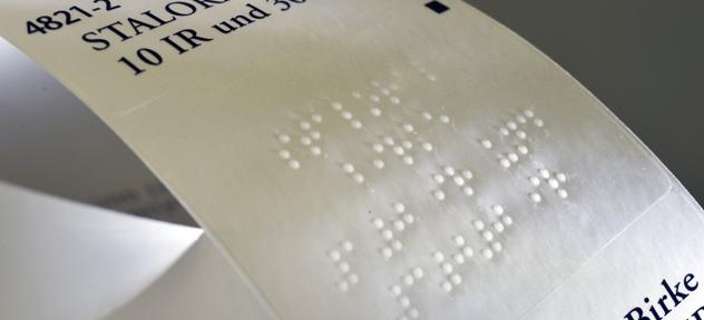 Etiquette Braille