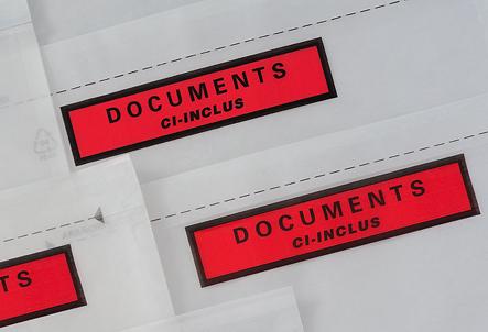 Pac List - pochettes adhésives porte-documents